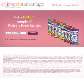 Spam Freebie Site