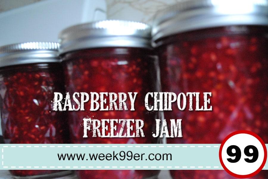 Raspberry Chipotle Freezer Jam!