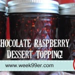 Chocolate Raspberry Dessert Topping!