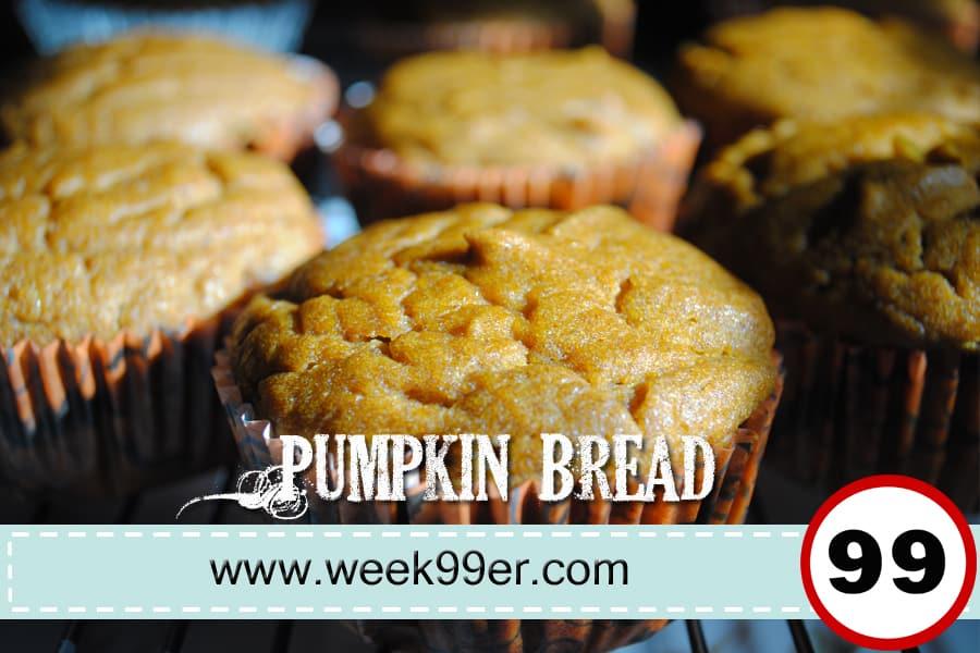 Day 84: Pumpkin Bread Recipe