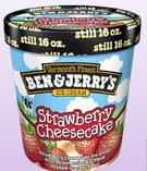 Ben and Jerry's Strawberry Cheesecake