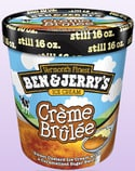 Ben and Jerry's Creme Brulee