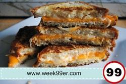 three grilled cheese sandwich