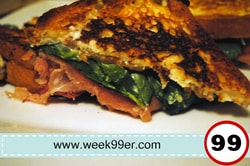 proscuitto feta grilled cheese