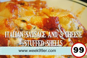 Italian Sausage and 5 Cheese Stuffed Shells Recipe with Gluten Free Option!