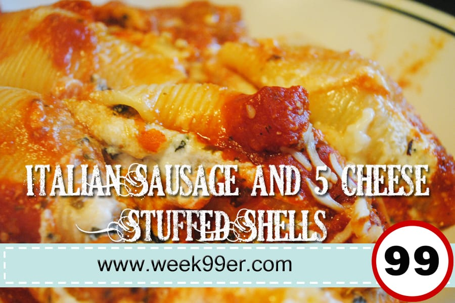 Italian Sausage and 5 Cheese Stuffed Shells Recipe
