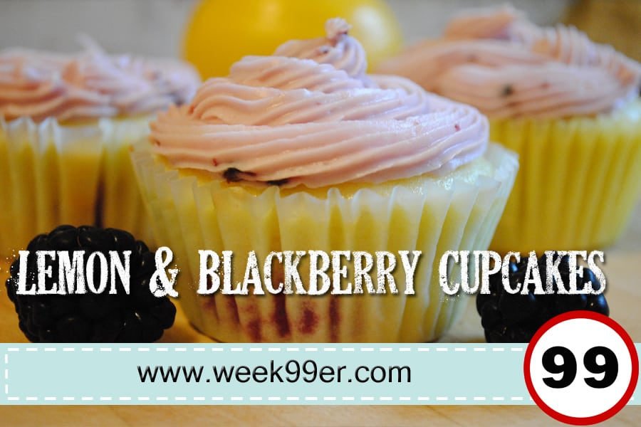 lemon and blackberry cupcakes