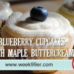 Blueberry Cupcakes with Maple Buttercream Frosting