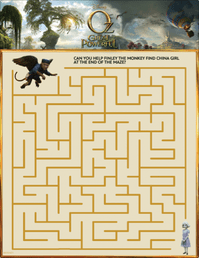 Oz The Great and Powerful Printable Games