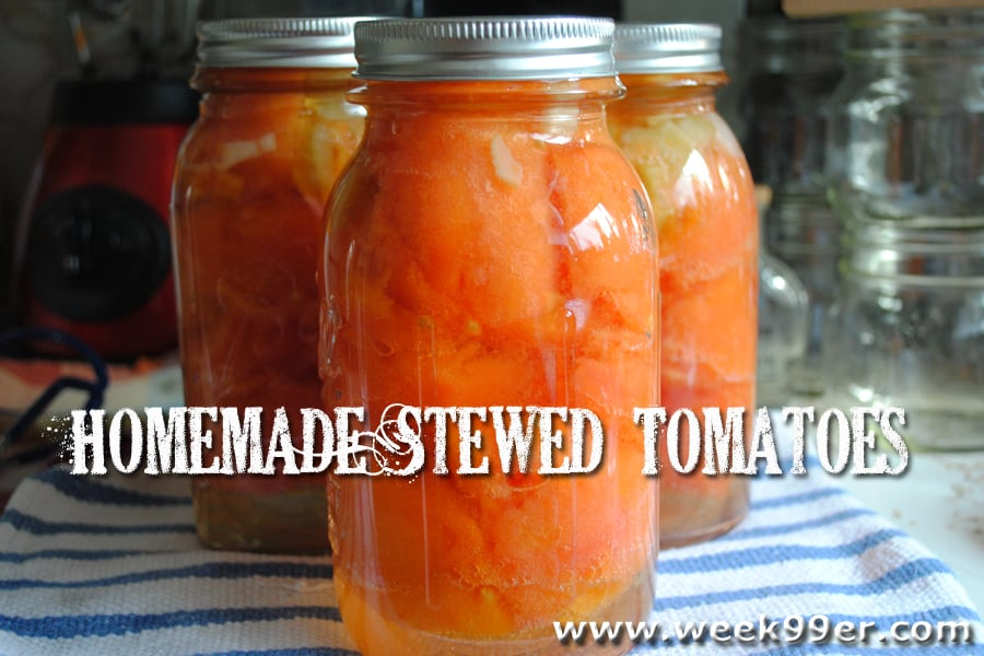 Homemade Stewed Tomatoes – Canning Recipe