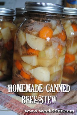 Homemade Canned Beef Stew