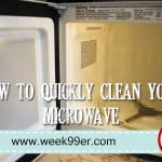 DIY – Quick and Easy Microwave Cleaner!