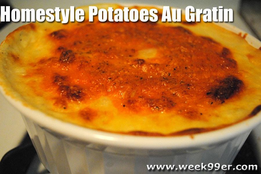 Home Style Potatoes Au Gratin Recipe
