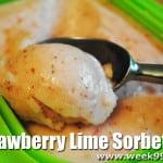 Strawberry Lime Sorbet Recipe