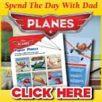 Free PLANES Father's Day E-Card and Activity Sheets!