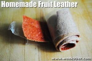 Homemade Fruit Leather – Strawberry Apple!