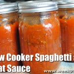 Slow Cooker Spaghetti and Meat Sauce with Canning Instructions!