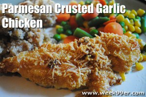 5 Ingredient Parmesan Crusted Garlic Chicken- Gluten Free!