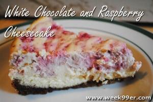 White Chocolate and Raspberry Cheesecake Recipe