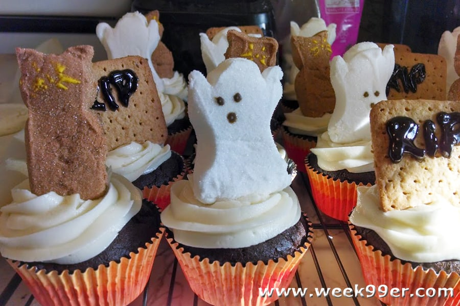 Cupcake Graveyard with Gluten Free Devil's Food Cake Recipe