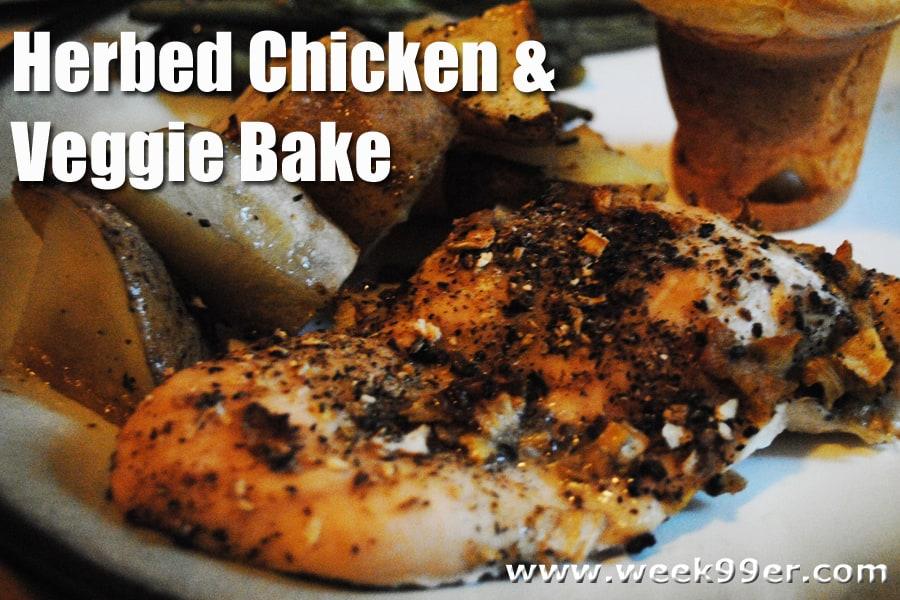 herbed chicken veggie bake recipe