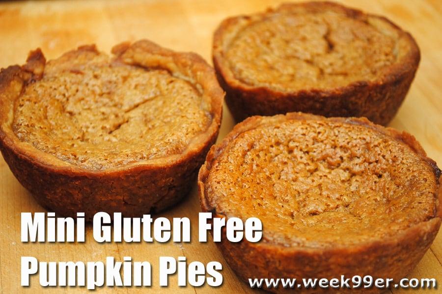 Mini Gluten Free Pumpkin Pie Recipe
