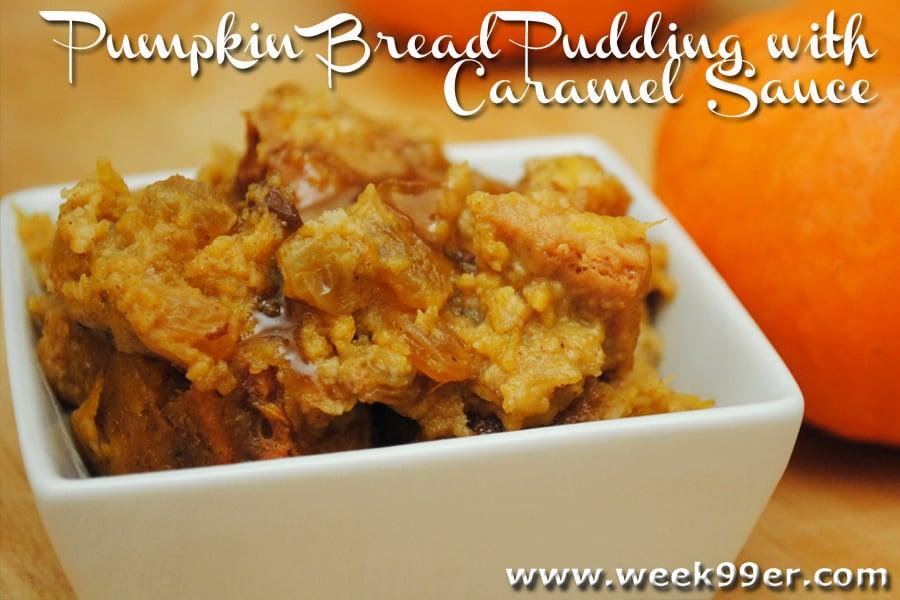 Gluten Free Pumpkin Bread Pudding with Caramel Sauce#goodcookcom #goodcookkitchenexprt