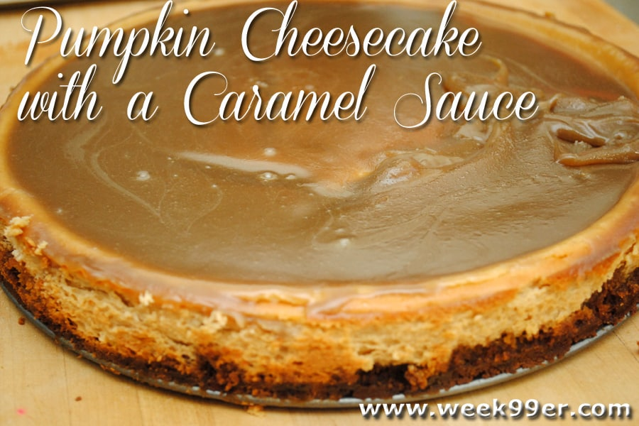 Gluten Free Pumpkin Cheesecake with a Caramel Sauce