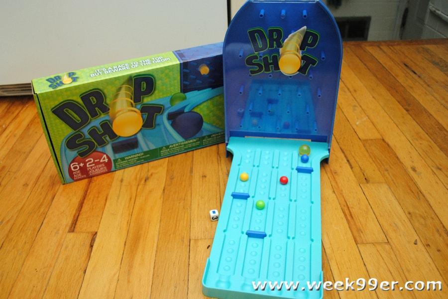 Drop shot board game