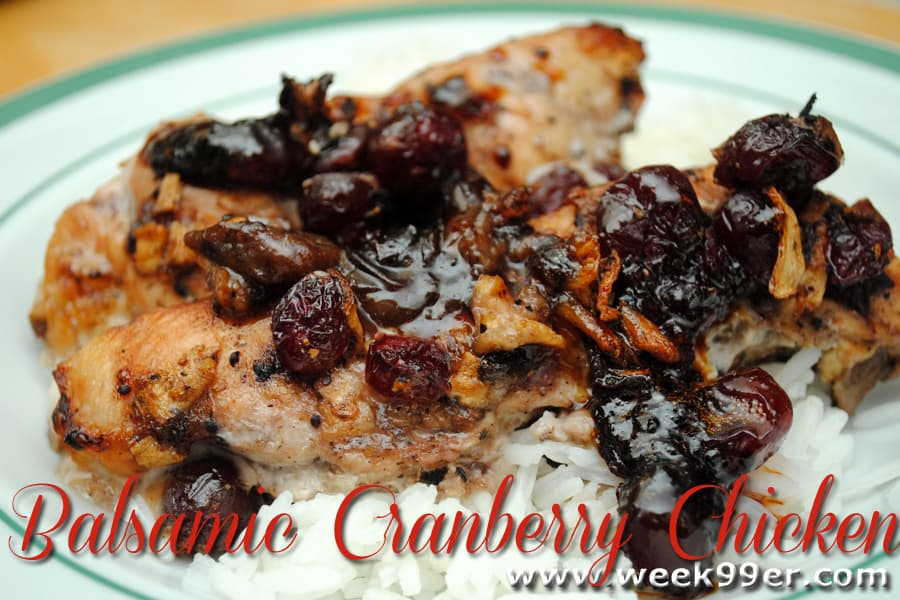 balsalmic cranberry chicken recipe