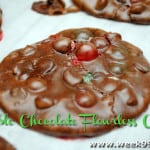 Double Chocolate Flourless Cookies with Celebration Sixlets!