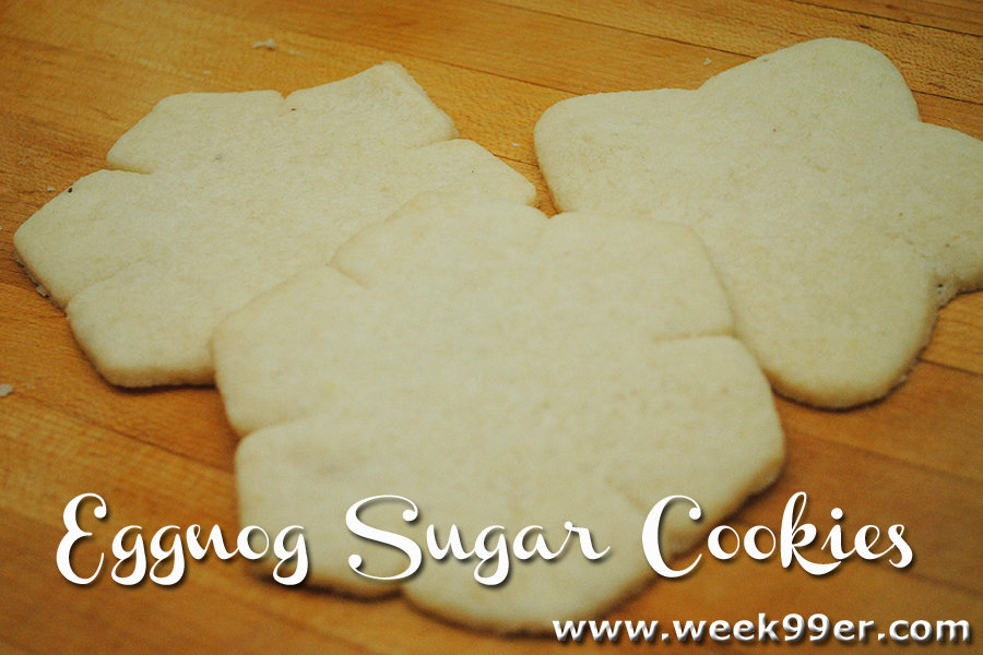 Eggnog sugar cookie recipe