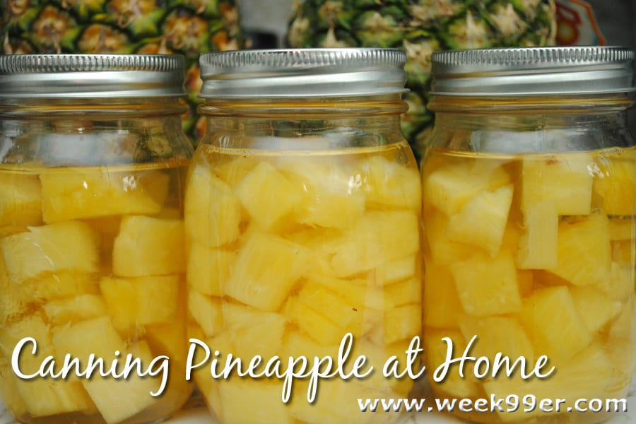 canning pineapple at home