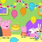 Free Peppa Pig Party Time Printable Coloring Sheet