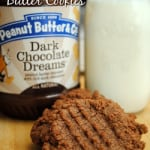 Dark Chocolate Peanut Butter Cookies + Cookbook & PB Giveaway!