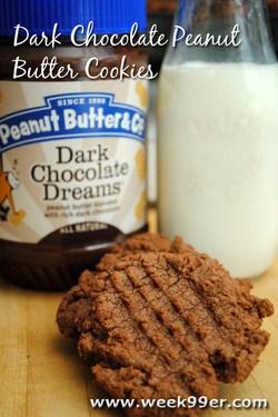 Dark Chocolate Peanut Butter Cookies