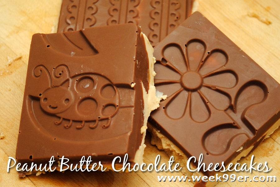 Peanut buttter chocoalte cheesecake bars