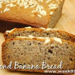 Gluten Free Almond Banana Bread Recipe #Glutenfree