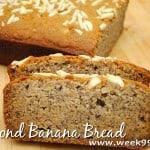 Gluten Free Almond Banana Bread Recipe #Glutenfree