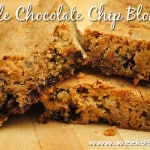 Maple Chocolate Chip Blondies Recipe #glutenfree