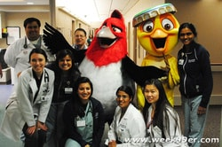 Rio 2 characters at Children's Hospital