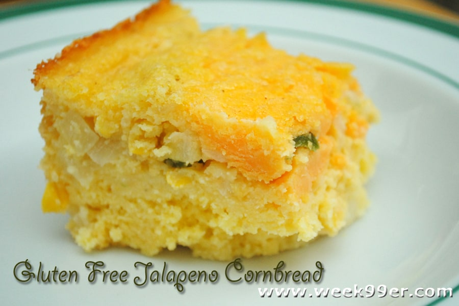 Gluten Free Jalapeno and Cheese Cornbread