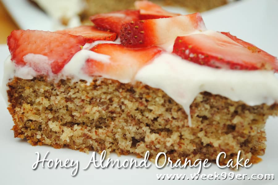 Honey Almond Orange Cake with Strawberries Recipe #goodcookcom‪ #‎goodcookkitchenexprt ‪#‎KitchenDrawerContest #glutenfree