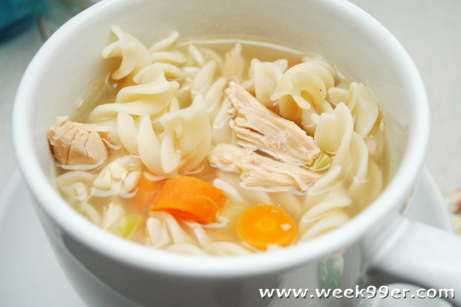 Home canned chicken noodle soup recipe