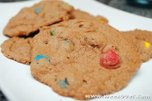 Dark Chocolate Peanut Butter Cookies with M&Ms Recipe