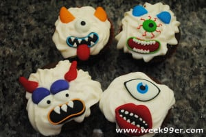Not So Scary Monster Cupcakes!