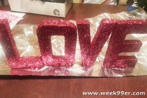 DIY Valentine's Decoration – Glittered LOVE Sign