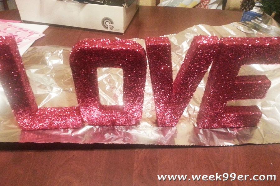 Diy Valentine S Decoration Glittered Love Sign