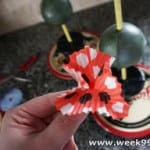 Mickey Inspired Cupcake Wrapper Topiary DIY #Disneyside @HomeCelebration