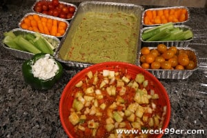 Healthy Snack Stadium for Your Game Day Party #RedGoldGameDay